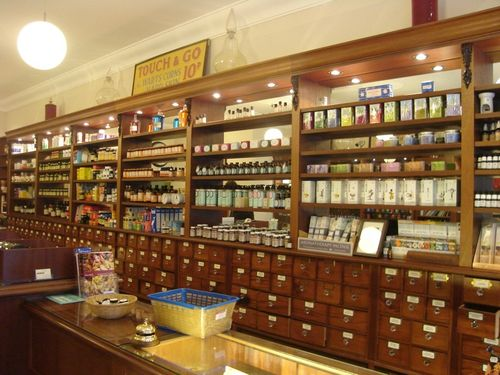 ... stores an excellent health food shop on one side and the traditional